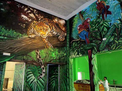 decoracion mural parque infantil jungla park