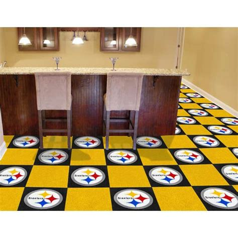 pittsburgh steelers home decor nfl pittsburgh steelers 18 inch carpet tiles fan mats