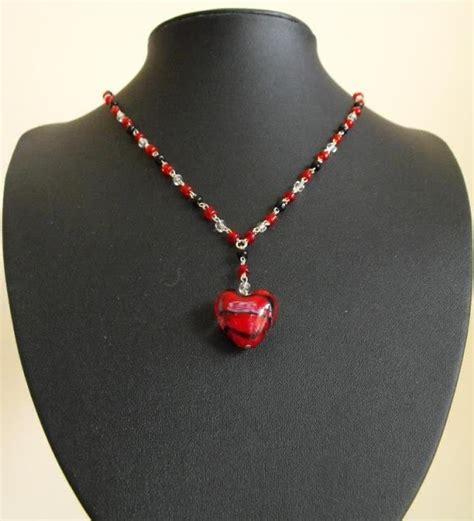 valentines beaded necklace handmade jewelry