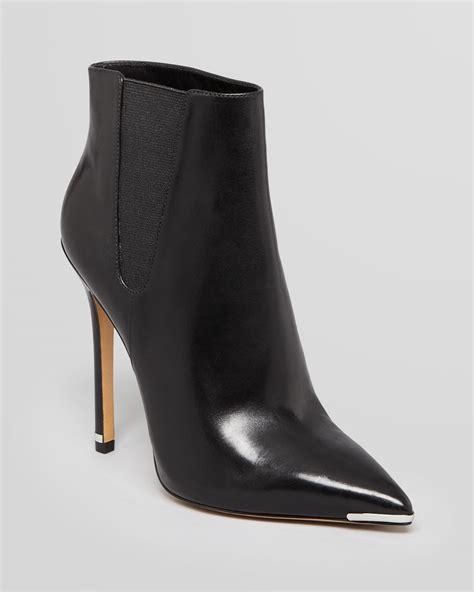 booties high heels michael kors pointed toe booties andie high heel in black