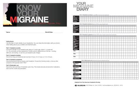 printable migraine diary template printable headache log calendar template 2016