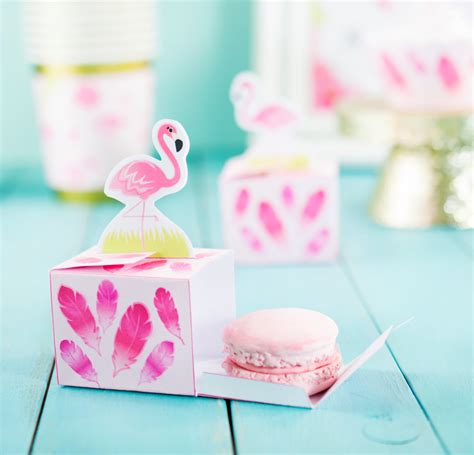mini printable flamingo favor box macaron favor box jelly