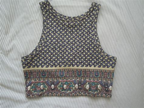 pattern shirts tumblr tank top crop tops clothes pattern boho indie crop