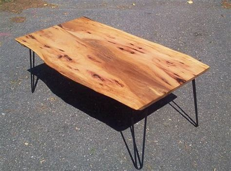 pecan wood coffee table epoch live edge wood slab tables