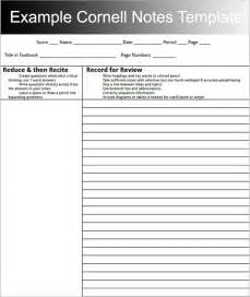 Cornell notes template download creative template