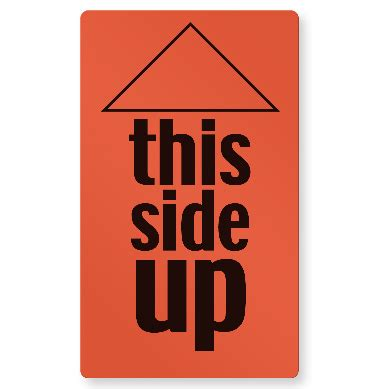 shipping label this side up 170 5 49 2 quot x 3 quot fluorescent shipping label quot this side