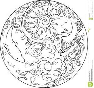 coloring tao mandala diksha stock vector image 56932941