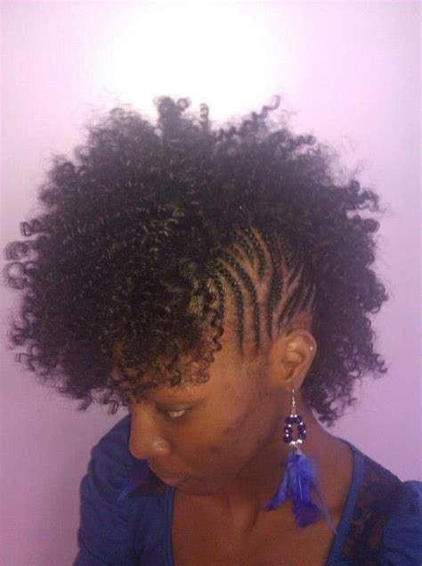 sewing hair weave for a mohawk mohawk sew in natural hair styles elliptical pinterest