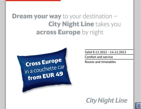 city night line day couch limited deutsche bahn city night line cnl offer eur49