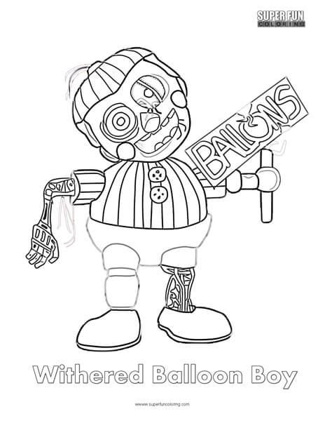 fnaf coloring pages balloon boy f naf balloon boy coloring pages coloring pages
