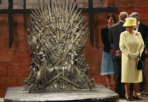 the queen visits the game of thrones set in belfast but