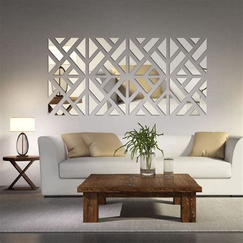 living room decoration mirrored chevron print wall decoration wall decorations