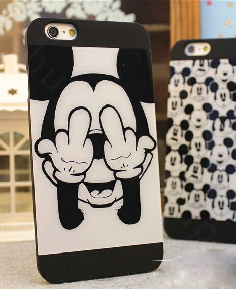 I Phone 7 Mickey Black buy wholesale brand mickey mouse covers plastic matte back cases for iphone 7 plus