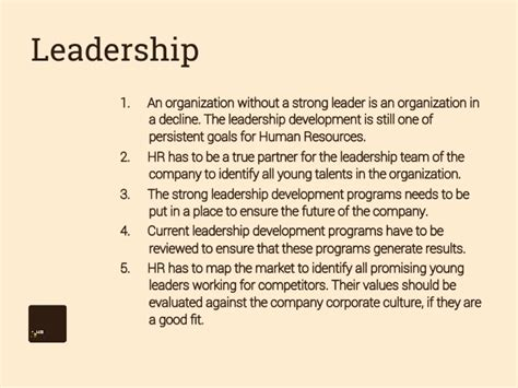 leadership objective statement hr goals and objectives 2014