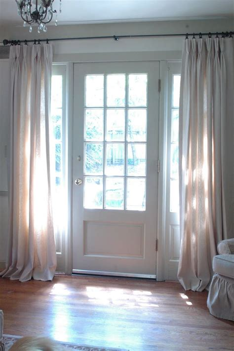 Door Window Curtains 1000 Images About Sidelight Curtains On Window Treatments Entry Ways And Foyers