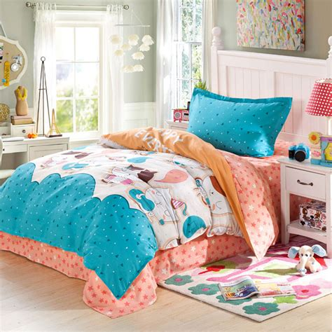 orange and light blue bedroom adorable light blue and orange cotton bedding set