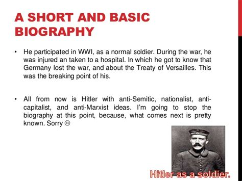 biography of hitler in short hitler history assigment