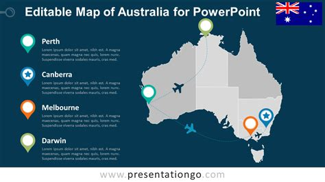 customizable world map presentation templates with location markers
