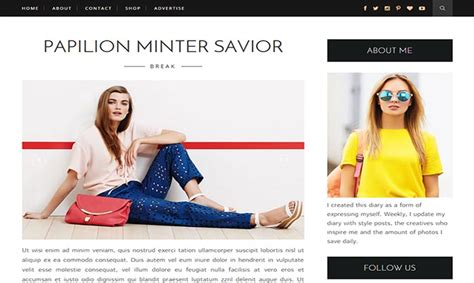 stylish templates for blogger life fashion blogger template