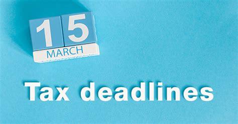 March 15 Mba Deadline by Partnership Income Tax Raffensperger Martin Finkenbiner
