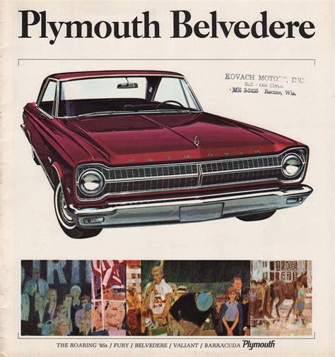 leaflet design plymouth chrysler 1965 plymouth belvedere sales brochure