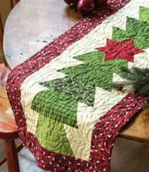 christmas tree table runner quilting pinterest