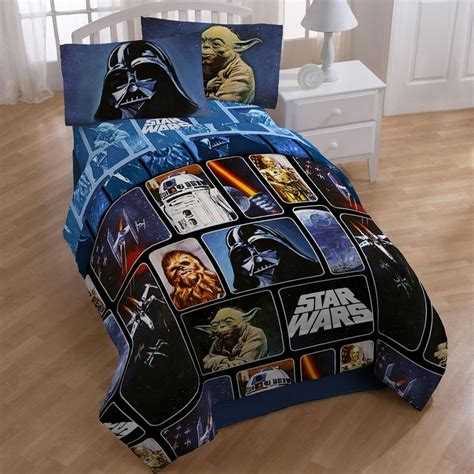 starwars bedding star wars collage 5 piece full size bed in a bag with