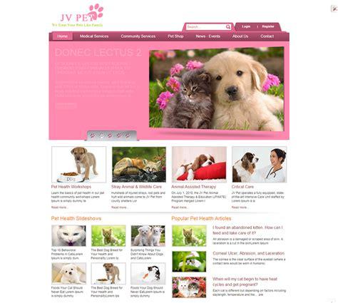 pet templates pets store joomla website templates themes free
