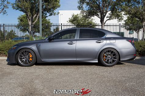 lowered lexus new tanabe nf210 springs for lexus gs f 187 more japan blog