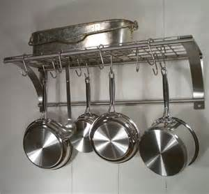 Kitchen Shelf With Pot Rack Photo Of Rainsford Gale Epicure Stainless Steel Wall Pot