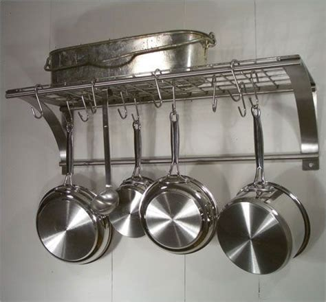 Wall Mounted Pot Racks For Kitchen Photo Of Rainsford Gale Epicure Stainless Steel Wall Pot