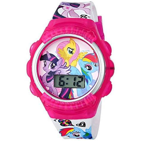 Hasbro Kids' My Little Pony MLPKD089FL Digital Display Quartz White Watch with Bracelet