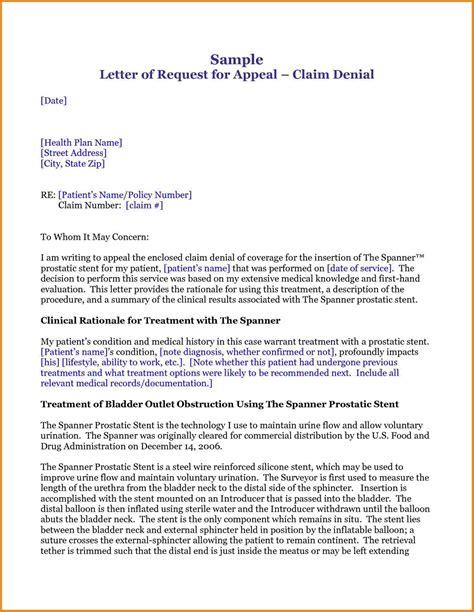 health insurance appeal letter sales slip template