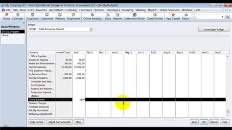 Quickbooks Tutorial Budget | quickbooks training set up budget youtube