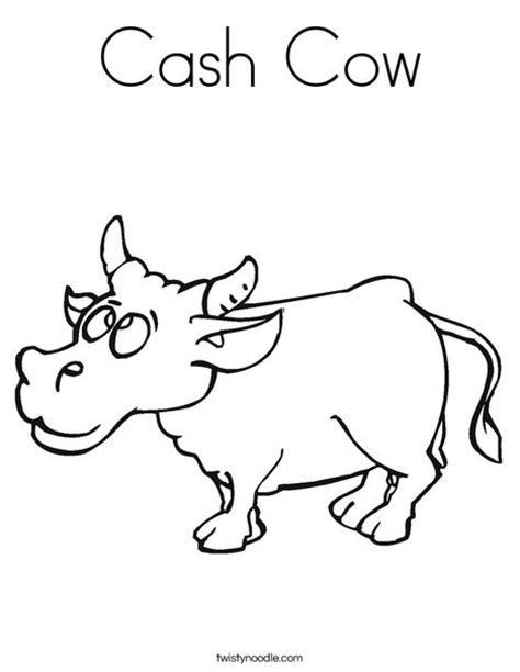 cow bell coloring page cash cow coloring page twisty noodle