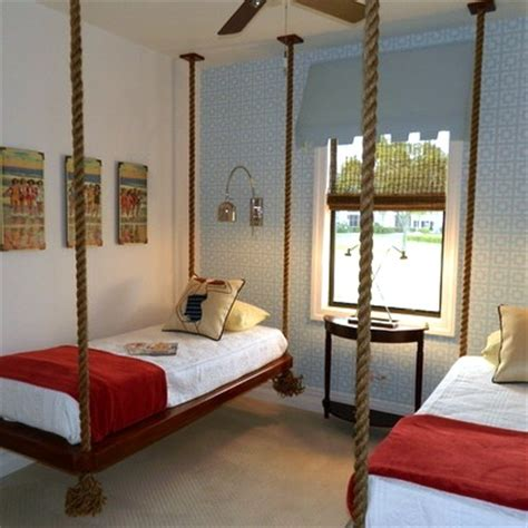 hanging beds for bedrooms shared teen rooms rope suspended beds kidspace interiors