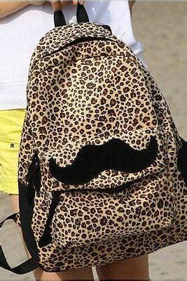 Tas Korea Studded Leopard Backpack large tiger white orange black panther