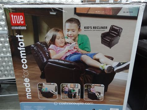toddler leather recliner costco true innovations kid s recliner