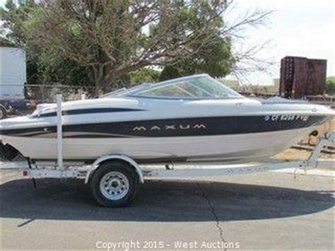 boat auctions california listings 2002 maxum 1900sr speed boat with trailer in woodland