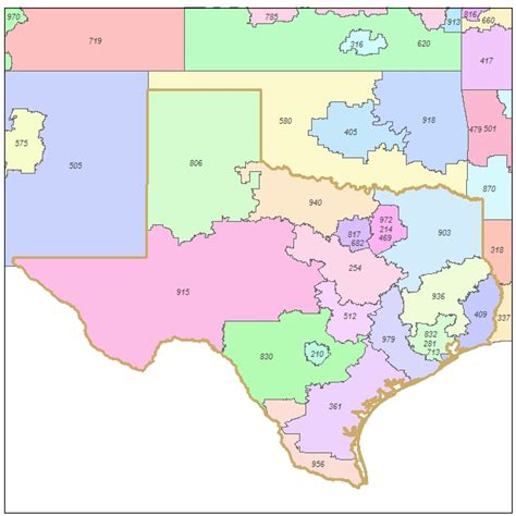 area codes in texas map texas telephone area code map texas map map of texas texas state county and city maps