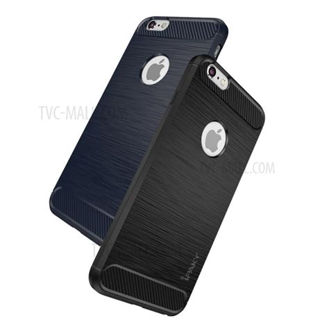 Softcase Ipaky Carbon Fiber Iphone 6 6s Plus Rubbercapsulecase6 ipaky brushed drop proof tpu shell for iphone 6s plus 6