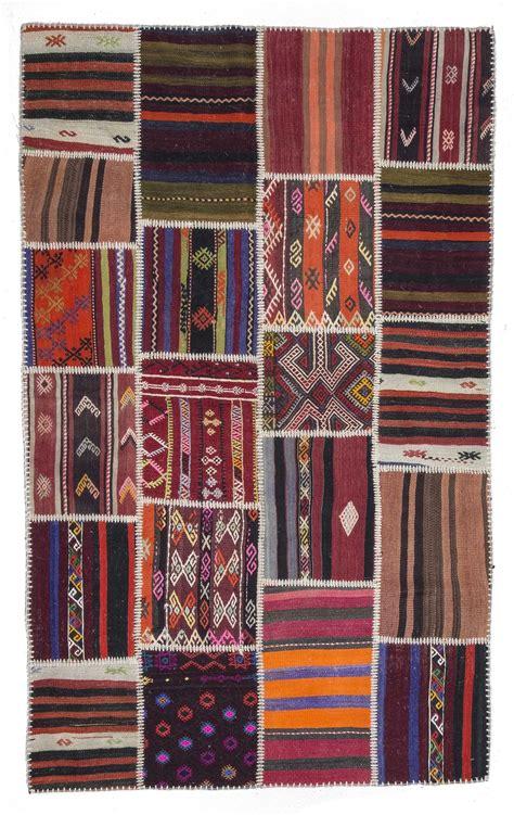 Patchwork Kilim - vintage kilim patchwork rug 0569