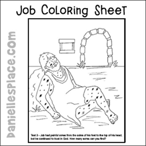 coloring pages for job in the bible bible crafts and activities for kids jewish customs