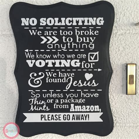 no soliciting welcome mat handmade no solicting sign wood hand painted by