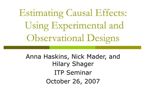 estimate design effect ppt estimating causal effects using experimental and