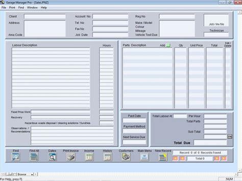 garage manager pro software informer screenshots