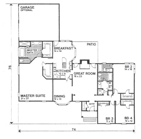 3105 square feet 5 bedrooms 4 batrooms 3 parking space ranch style house plan 4 beds 3 baths 2692 sq ft plan
