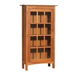 Wooden Bookshelves With Glass Doors Vermont Made Wooden Shaker Bookcase With Glass Doors