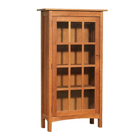 wood bookcase with glass doors vermont made wooden shaker bookcase with glass doors