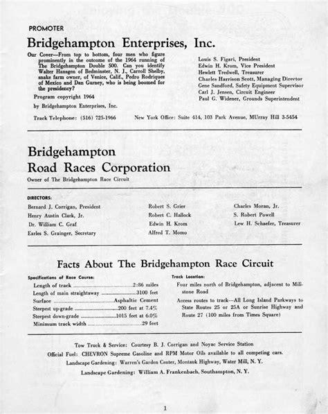 Bridgehampton 500 Kilometres 1964 - Racing Sports Cars